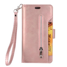 Phone Cover With Strap Card Wallet PU Leather Portable Rectangle Protective Wear Resistant Dustproof Flip Smooth For Samsung(China)