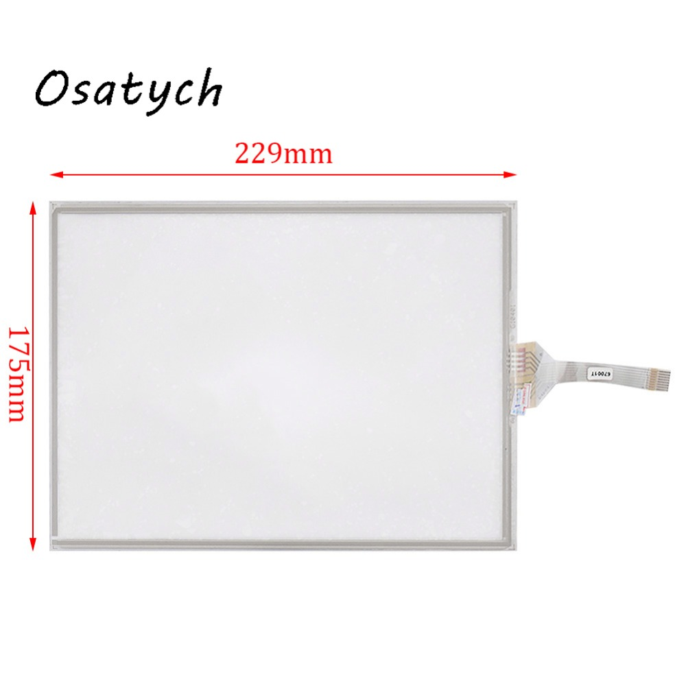 10.4 Inch 8Wire Resistive Touch Screen Panel For GUNZE G10401 228mm*175mm Touch Panel Glass