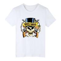 Streetwear GUNS N ROSES Black Punk Summer Cotton Men T Shirt Short Sleeve And Rock Band