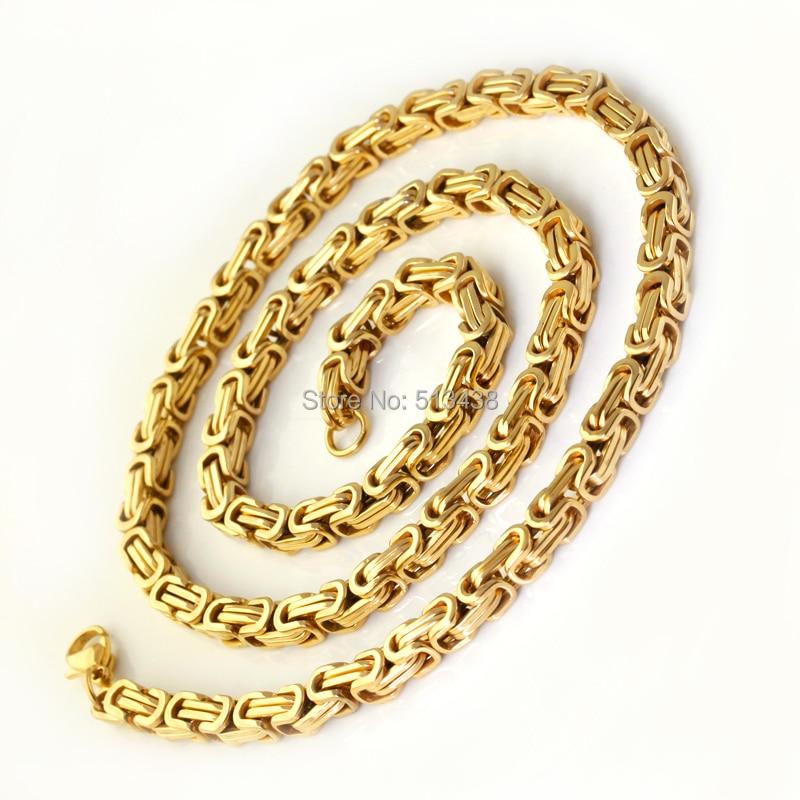 Aliexpress Com Buy Men S Byzantine Chain Id Bracelet In