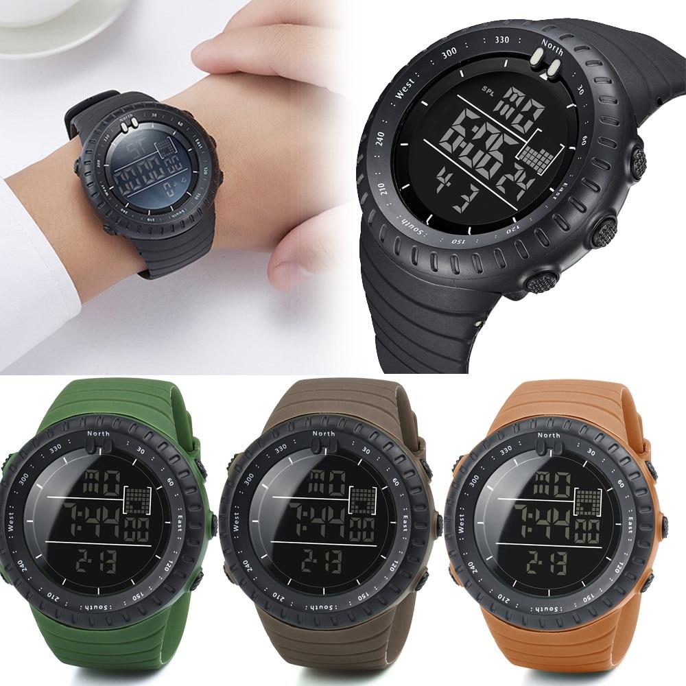 aec03546907 Reloj Aviador Relógios homens esportes Relógio Digital À Prova D  Água Mens  Relógios Digitais Militar