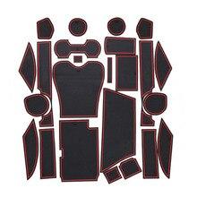 Per LEXUS RX270 RX350 RX450h Auto Porta Zerbino Pad di Gate Tazza Zerbino Automobile Interno di Stoccaggio E Non-Cuscino antiscivolo 24 pcs Con logo