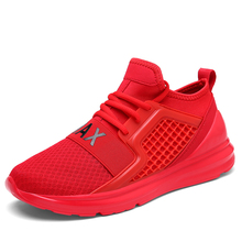 Running Shoes For Man Black White Sport Shoes Men Sneakers Breathable Zapatos corrientes de verano Red chaussure homme de marque(China)