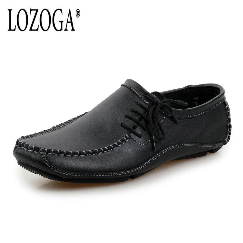 38 Mocassins Pour Hommes Conduite Masculino Noir Automne En Lozoga Cuir Nouveau Taille L'été De 47 Grande Chaussures Sapato Vache Casual BTTqz78w