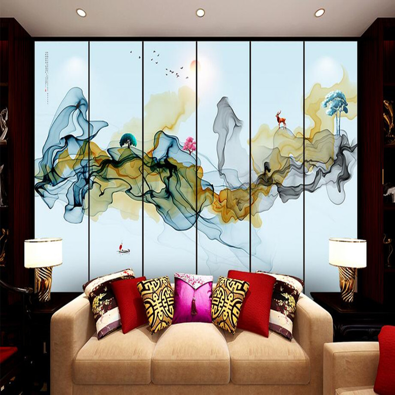Custom Photo Wallpaper 3D Wall Murals Wallpaper Abstract Living Room Chinese Ink Painting Sofa TV Wall Home Decor Wallpaper 3D book knowledge power channel creative 3d large mural wallpaper 3d bedroom living room tv backdrop painting wallpaper
