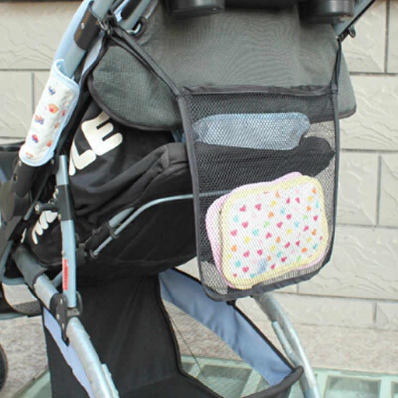 Stroller Accessories Universal Baby Stroller Organizer Bag Car Seat Side Organizer Hanging Basket Bag Storage Baby Accessories