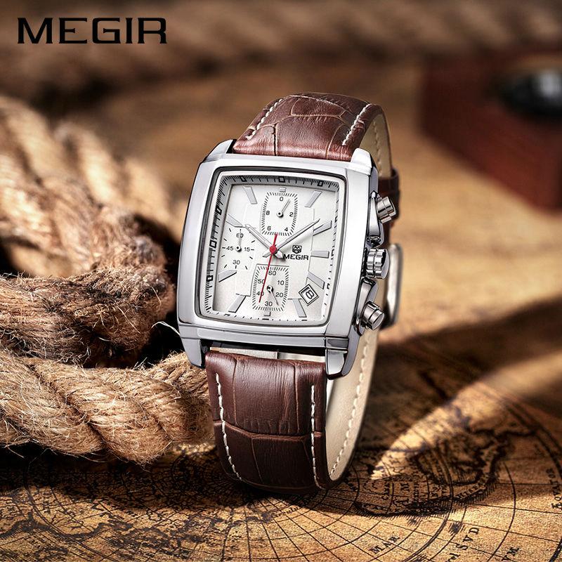 Megir 2018 շքեղ ապրանքանիշի տղամարդկանց - Տղամարդկանց ժամացույցներ - Լուսանկար 3