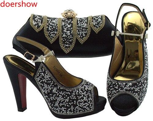 Fête Africain 6 Assorti De Sac Ensemble Avec Pour Chaussures Correspondant Sacs Italiennes Lady Et Doershow Design SacHln1 Chaussure Mode Bleue Ifb7gvY6y