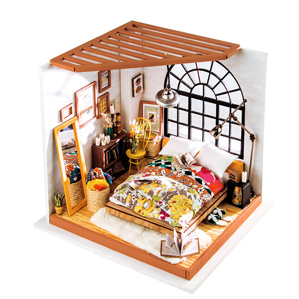 Micro Landscape 3D Wooden Diy Doll House Cottage Furniture For Children Toys Birthday Chri