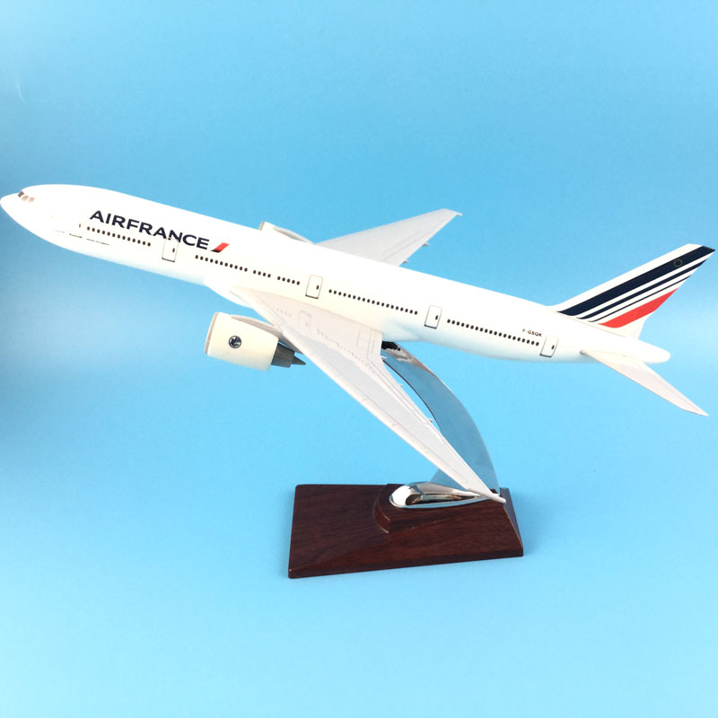 FREE SHIPPING 31CM AIR FRANCE 777 METAL BASE RESIN MODEL PLANE AIRCRAFT MODEL TOY AIRPLANE BIRTHDAY GIFT 1 400 jinair 777 200er hogan korea kim aircraft model
