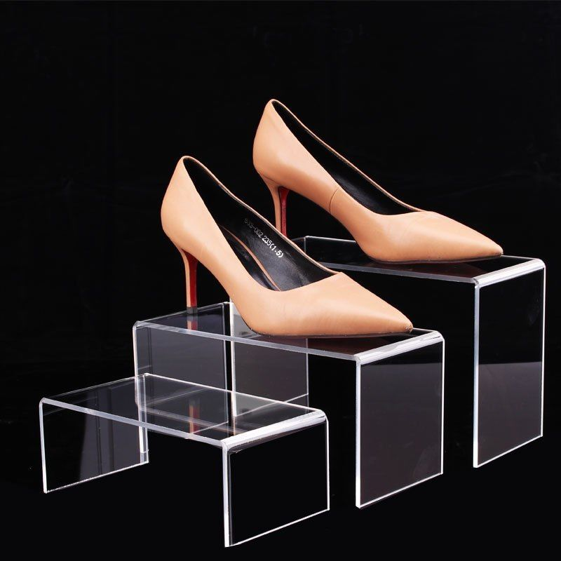 High Clear Acrylic Jewelry Display Stand Wallet Holder Toy Mobile Watch Bag Shoes Display For Window Display