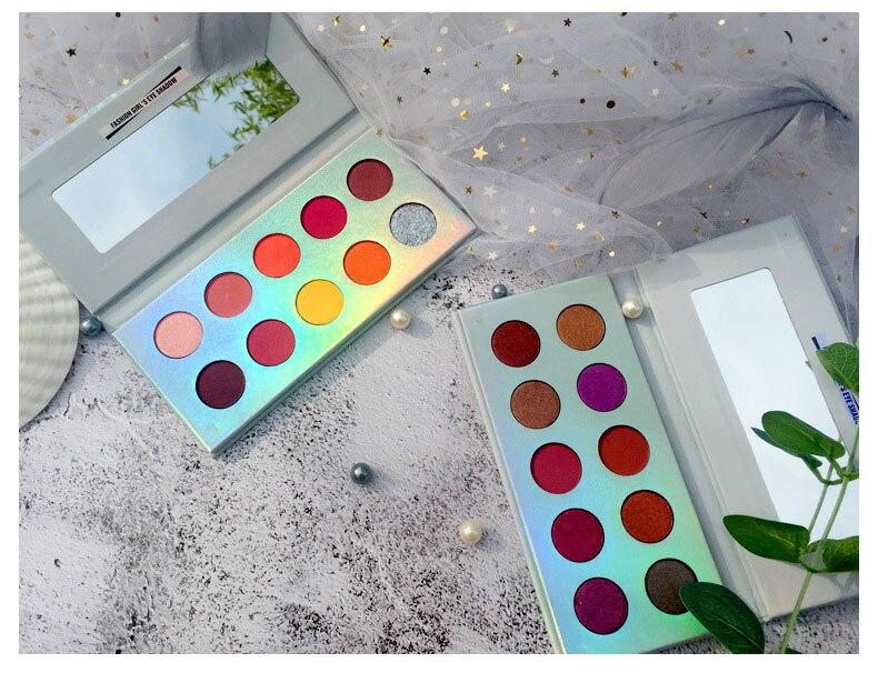 Xixi shimmer fosco sombra paleta brilhante 10