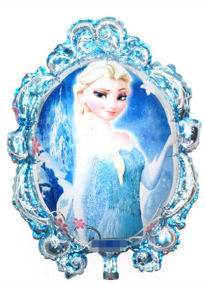 10pcs/lot Cartoon anime party supplies Elsa Alsa magic mirror foil balloon baloe