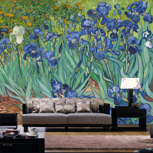 Van Gogh painting a large mural custom 3D wallpaper the living room sofa bedroom TV backdrop 3D wallpaper Continental red square building curtain roman 3d large mural wallpaper bedroom living room tv backdrop painting three dimensional wallpaper