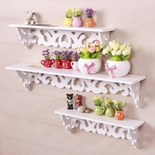 цены 3Pcs/Set 3 Size MDF Hanging White Wall Shelf Elegant Rack Fashion Simple Display Storage Rack Ornament Holder Home Decoration