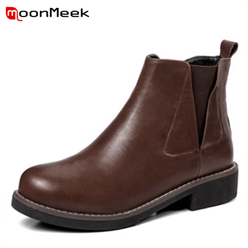 MoonMeek 2018 fashion summer boots  women genuine  leathe ankle boots casual platform sweet bootsMoonMeek 2018 fashion summer boots  women genuine  leathe ankle boots casual platform sweet boots