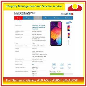 Image 5 - 10 pièces/lot pour Samsung Galaxy A50 A505 A505F SM A505F boîtier batterie porte arrière couvercle en verre boîtier châssis coque A50 2019