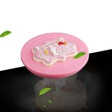 DIY Вращающийся поворотный стол для торта вращающаяся подставка для украшения торта платформа для торта Кондитерские инструменты для украшения торта печенья украшения для печенья 14 см