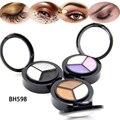 1 unids smoky ojos mate color mezclado polvo de hornear sombra de ojos paleta naked nude brillo cosméticos conjunto de maquillaje de ojos