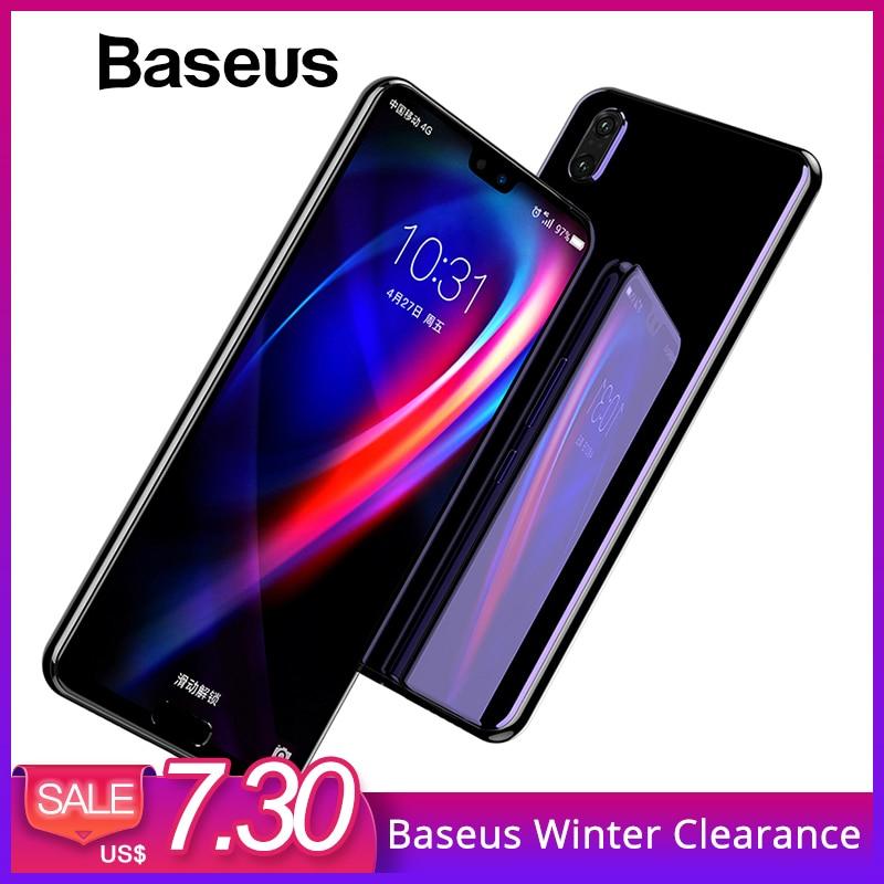 Baseus 0,3mm 3D superficie cobertura completa Protector de pantalla para Huawei P20 P20 Pro de vidrio templado 9 H de protección de vidrio para Huawei P20