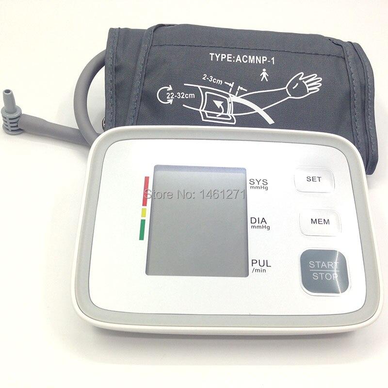 Digital pulse arm bp Blood Pressure Monitors meters tonometer pulsometro sphygmomanometer cuff health care monitors for heart
