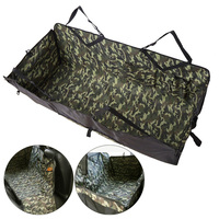 Waterproof Camouflage Pattern Dog Back Seat PVC hammock Car pet seat cover With Storage pockets Army Green Foldable Bog Rear Mat