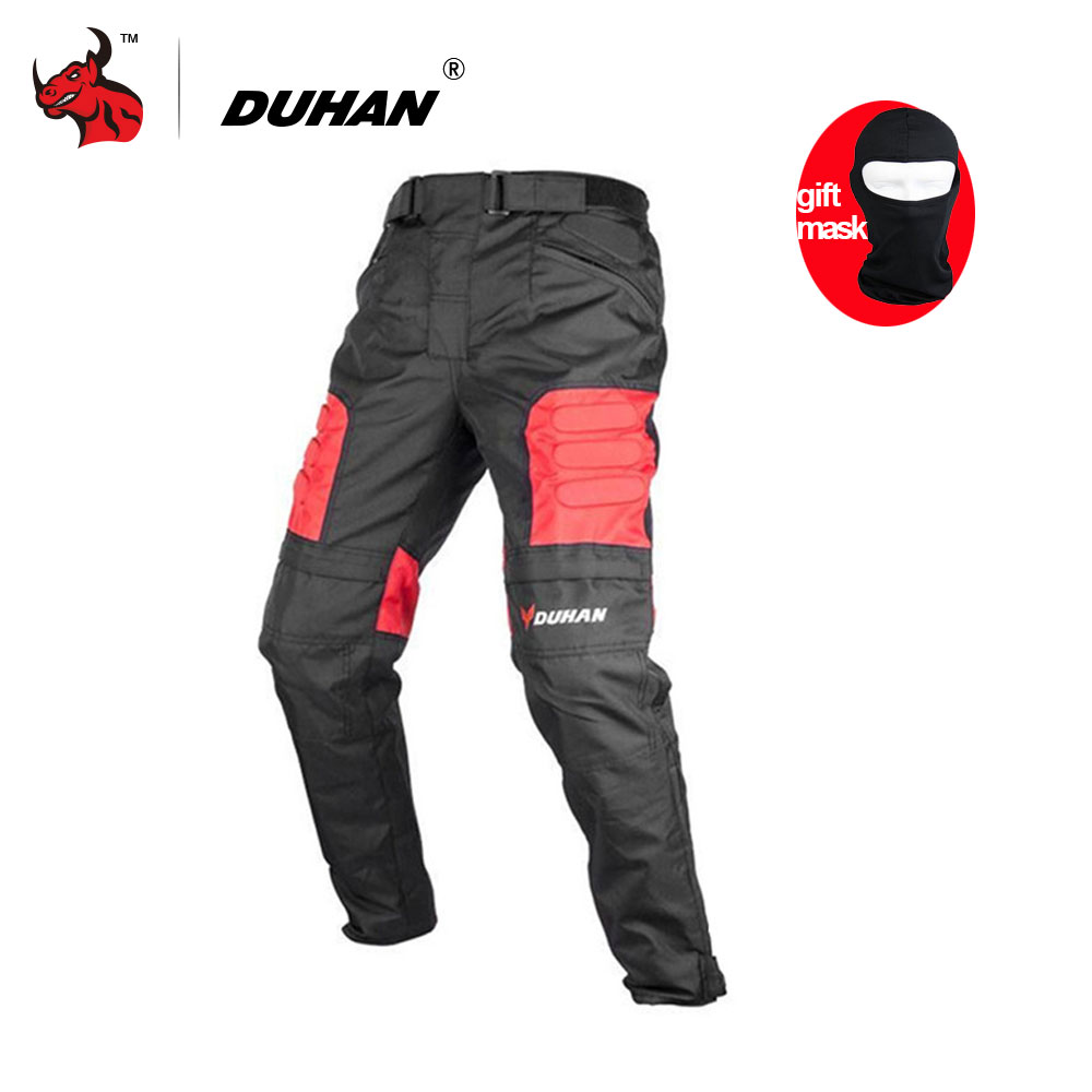 DUHAN Motorcycle Pants Motocross Off-Road Trousers Motorcycle Racing Pantalon Windproof Riding Pants Knee Protective Guards