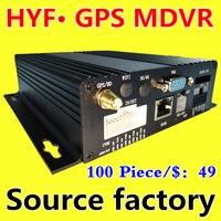 Аналоговая камера высокого разрешения 4 канала видео наблюдения хост Автомобильный видеорегистратор gps позиционирования, транспортного ср...