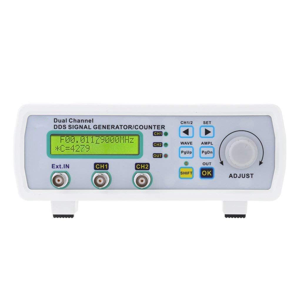 Compteur de fréquence arbitraire de formes d'onde de générateur de Source de Signal de double canal de DDS numérique de haute précision 200MSa/s 20 MHz (prise de l'ue)