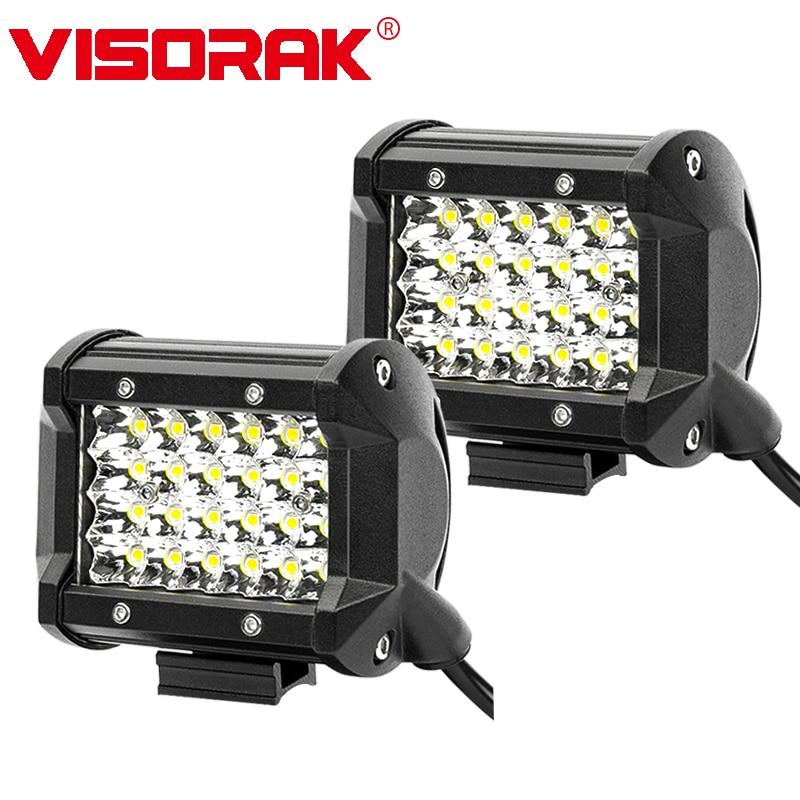VISORAK 4 72 w Spot LED LAMPE de Travail Bar 12 v 24 v Offroad LED Light Bar Voiture 4X4 4WD Camion SUV ATV Remorque Ramassage Conduite LED Poutres