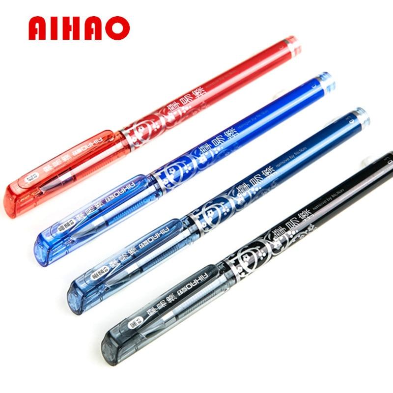Free Shipping 12pcs/lot Aihao 4370 Erasable Pen Unisex 0.5mm Pen Magic Erasable Pen Gel Pen Stationery Office & School Supplies