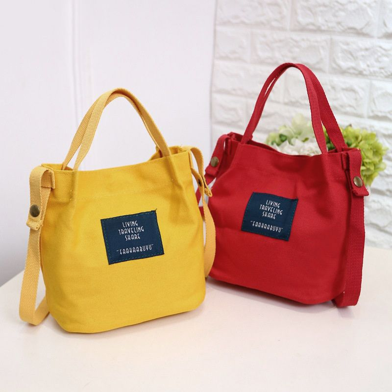 Women's Canvas Handbag Shoulder Bag Tote Purse Travel Bucket Bag