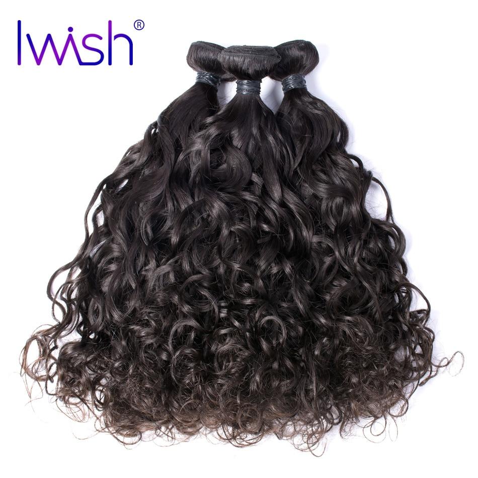 Iwish Hair Brazilian Virgin Hair Water Wave 100% Human Hair Unprocessed Hair Weave Bundles 12-24 inch 1 piece Free Shipping