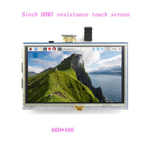 Enhanced Edition Automatische standby 5 inch LCD HDMI Touch Screen Display TFT Lcd-scherm Module 800*480 voor Banana pi Raspberry Pi(China)