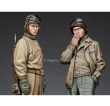1 35 Scale WW2 US 2 groups WWII Historical Figure Resin Model Kit Free Shipping