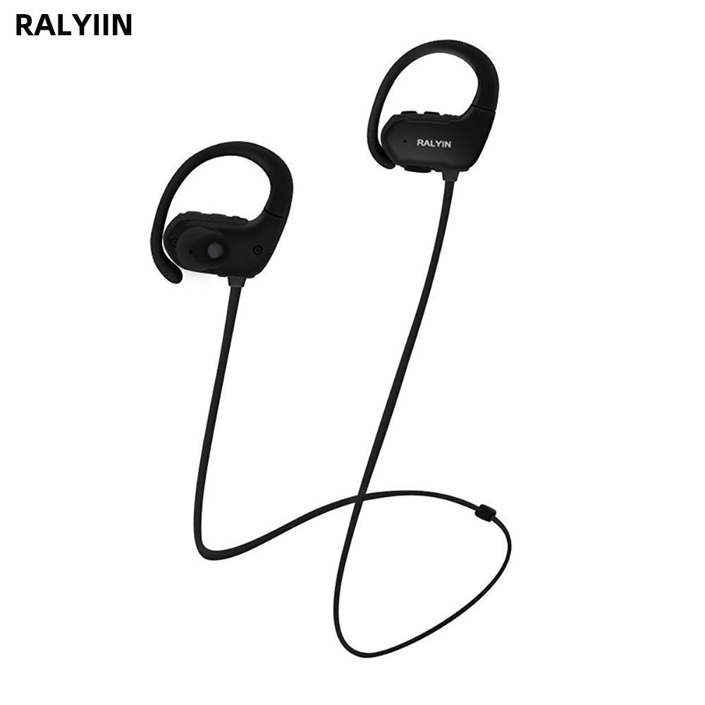 RALYIN M2 MP3 Jogador Lossless Bluetooth Esportes Fone de Ouvido Fones de Ouvido Embutido IPX6 8GB de Memória com o Gancho do Ouvido Microfone de fone de ouvido À Prova D' Água