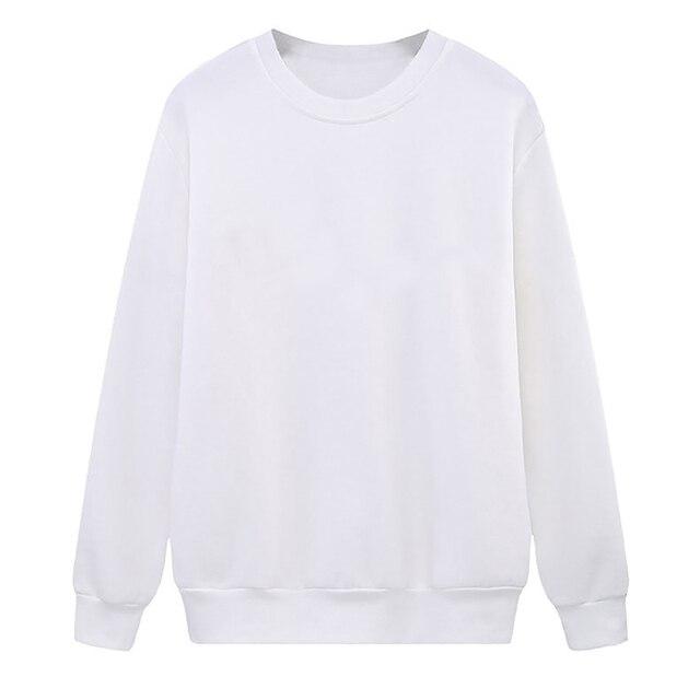 Solid Color Sweatshirt Women Casual Hoodie Fashion Winter Autumn Lasdies Pullover Fleece Black White Blue Red Gray Streetwear 6