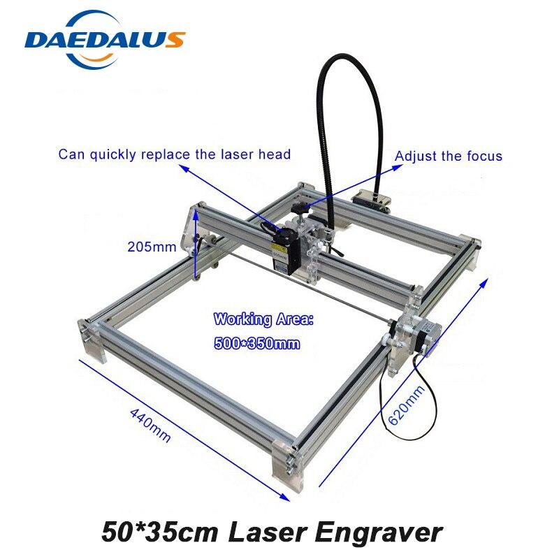 CNC Laser graveur Machine 500 mw 2500 mw Mini bricolage fraiseuse 500*350mm bois routeur graveur 10 W 15 W avancé jouets