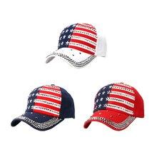Модные американские и европейские разноцветные бейсбольные кепки с инкрустацией бриллиантами