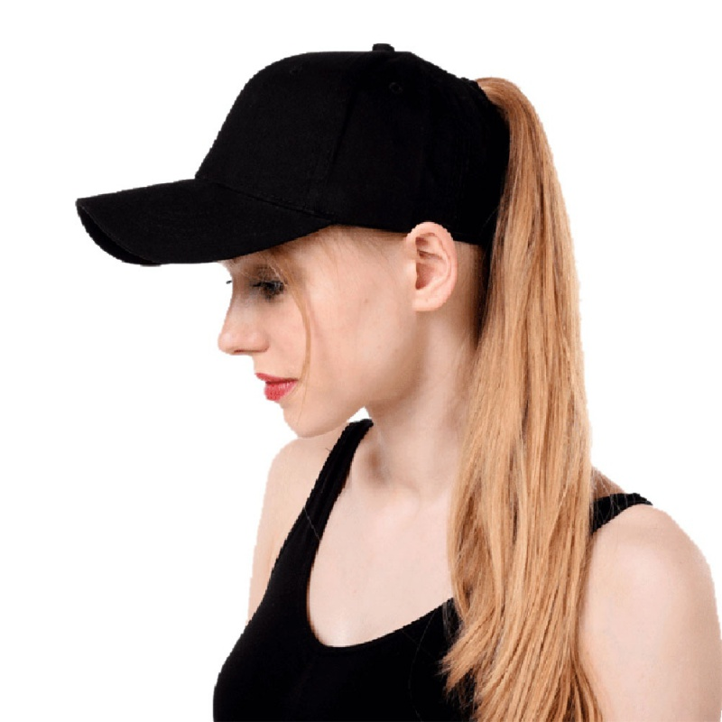 Women s ponytail baseball cap solid color breathable sunshade sun hat after  opening Sports tennis cap  2b8e929f670