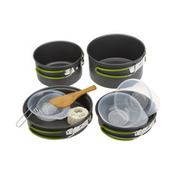 Lixada Outdoor Portable Cookware Set 2 3 People Multifunctional Portable Tableware Camping Utensils Set For Outdoor Picnic