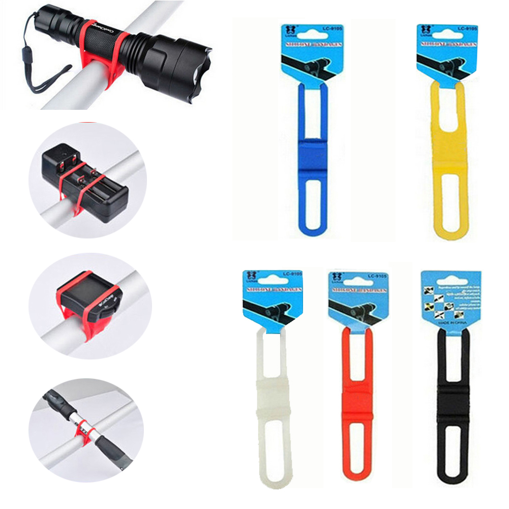 5Pcs silicone strap bike front light holder bicycle handlebar fixing tNS RS