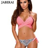 JABERAI Sexy Bikini 2017 Women Swimsuit Push Up Swimwear Criss Cross Push Up Bandage Bikini Set