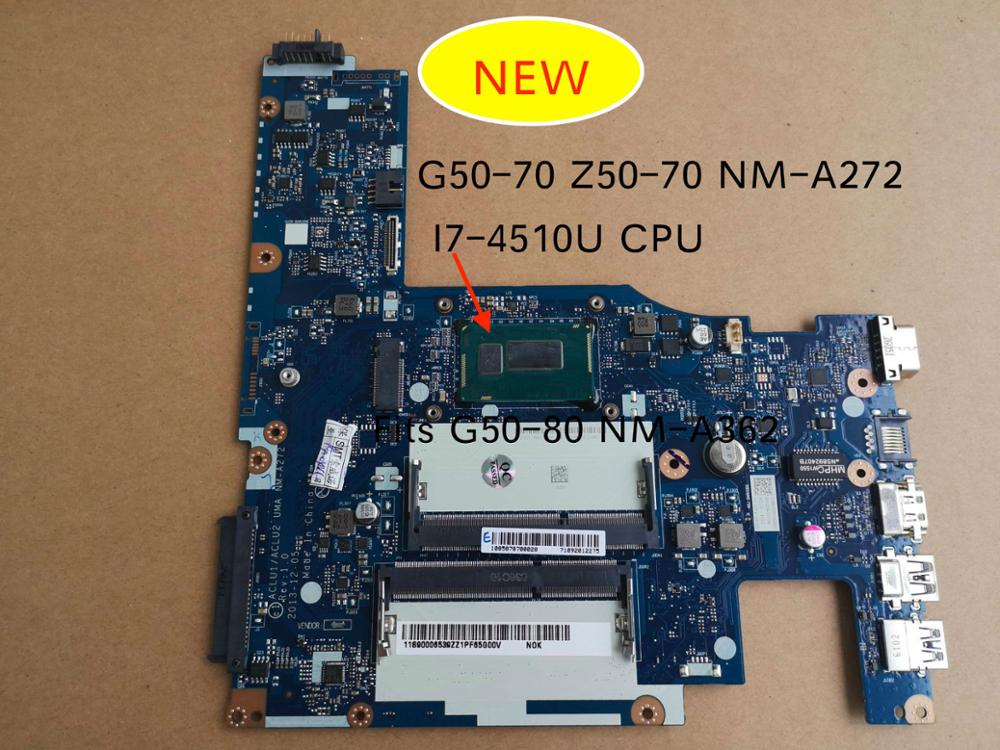 Free Shipping New For Lenovo G50-70 G50-70M Z50-70 G50-80 NM-A272 NM-A362 Notebook Motherboard I7-4510u 5B20G36670