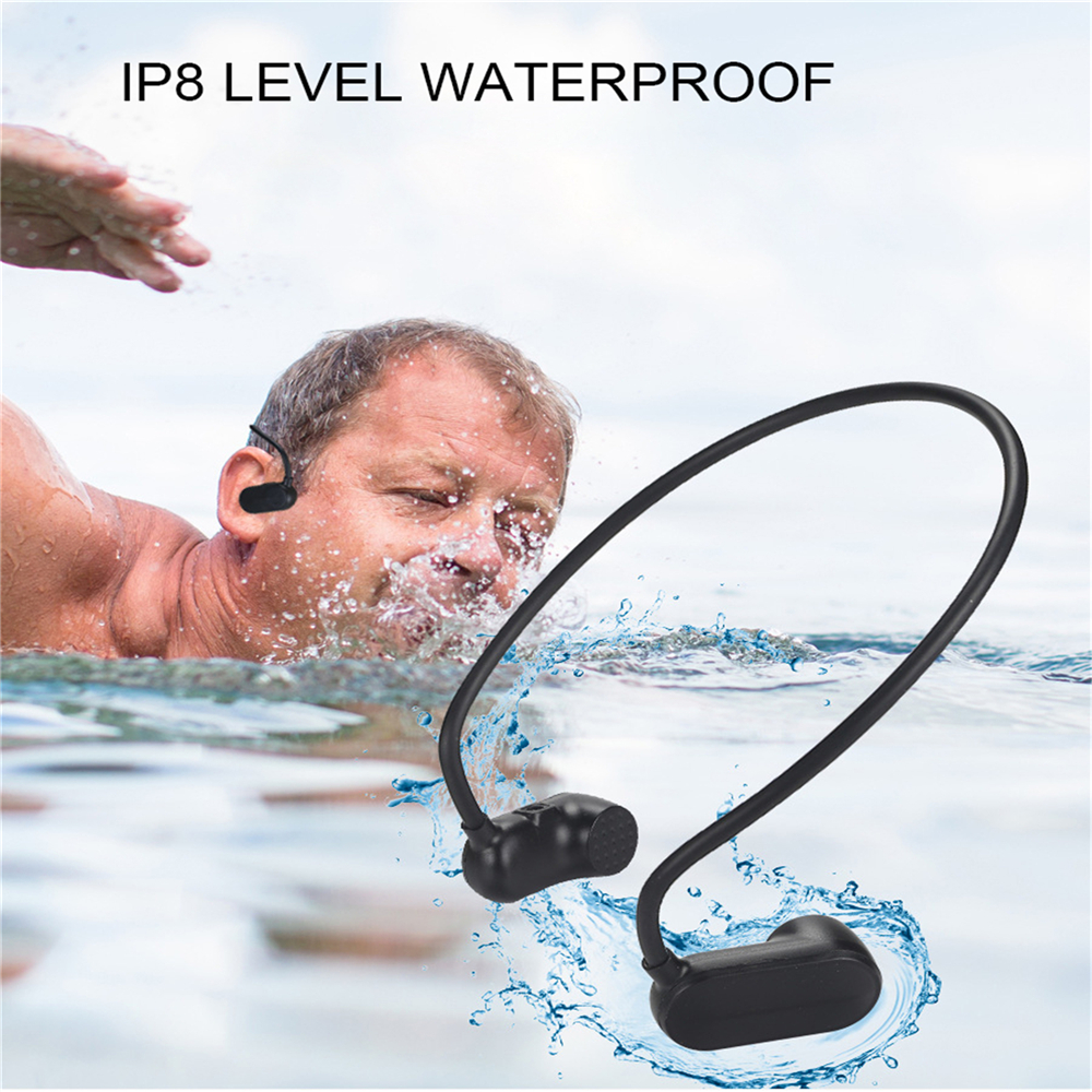 Bone Conduction Sport Headphone IPX8 Waterproof Swim MP3 Music Player 8GB 16GB 32GB Stereo MP3 Music