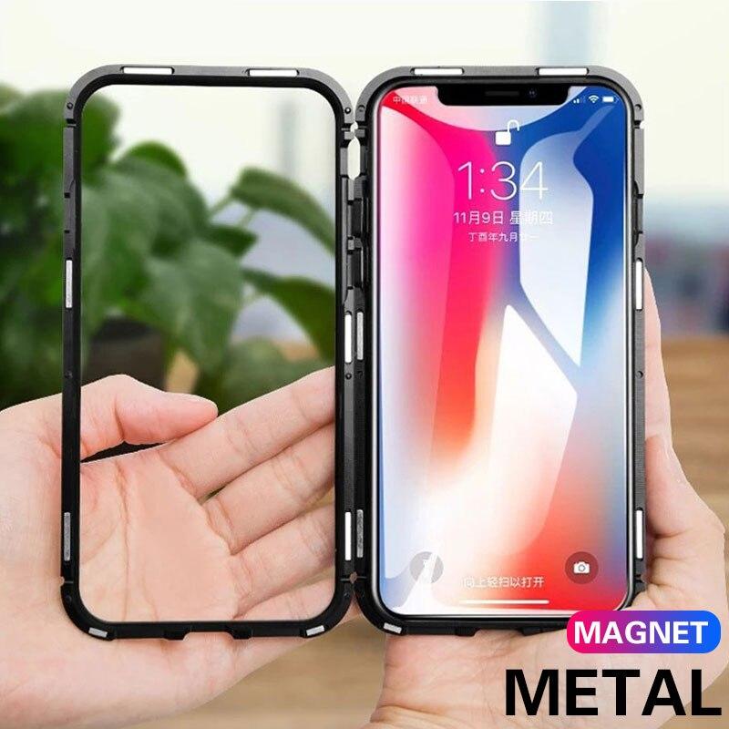 360 Anti-transparent Fall Für Iphone X Xr Xs Max Magnetische Metall Rahmen Shell Auf Die Für Iphone 6 6 S 7 8 Plus Schutzhülle Aromatischer Geschmack