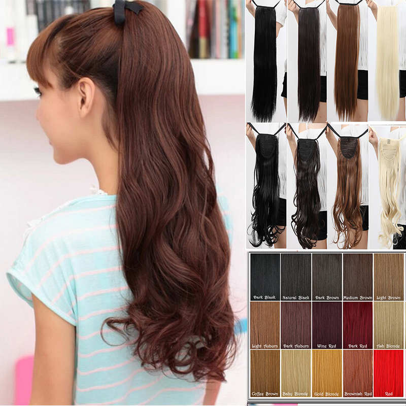 Real Thick Drawstring Ponytail Clip In Hair Extension