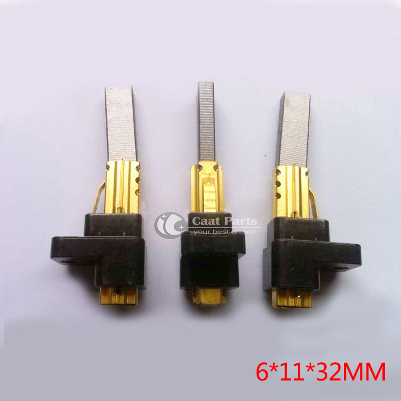 2PCS/LOT,6*11*32mm Motor Carbon Brushes and carbon brush holder for LG vacuum cleaner, Power tool accessories, High quality ! 10pcs wire leads 5x10x24mm electric generator motor carbon brushes alternator power tool generic for car vehicle wiper regulator