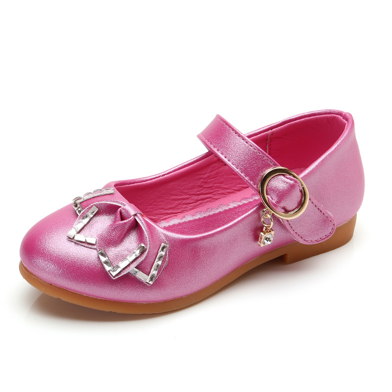 Summer Children Shoes for Girls Princess Sandals PU Leather Kids Flowers Dress Moccasins Fashion Wedding Party School Flat Shoes