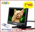 7 Polegada (480*234) TFT LCD Monitor Do Carro HD Car Rear View Monitor de Encosto de cabeça com DOIS Canais De Entrada De Vídeo G-788 GGG FREESHIPPING